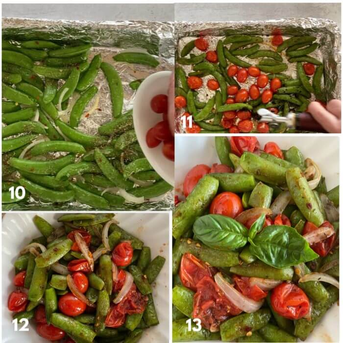 Snap Peas Preparation 10-13 steps