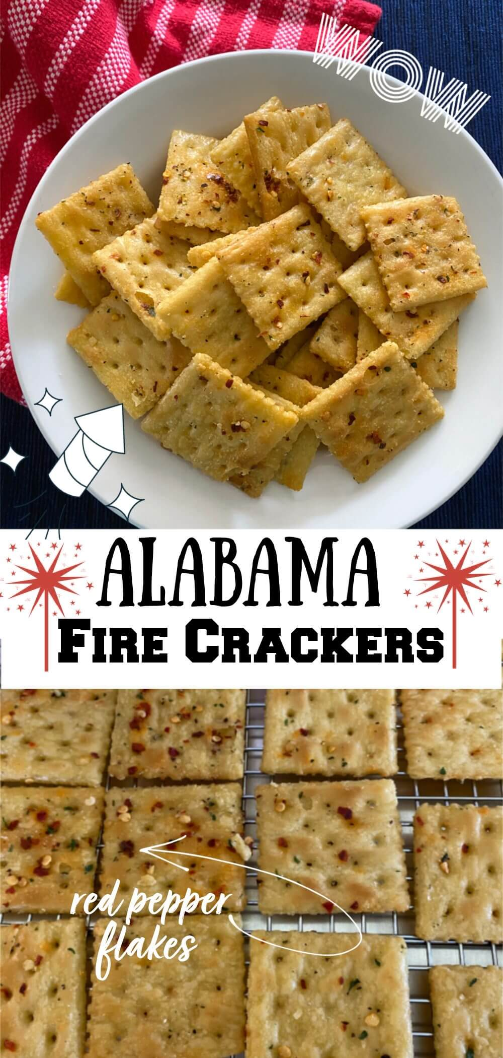 Ranch fire crackers are not your average snack. The seasoning and spices transforms the saltines into something delicious and addictive. Serve these with soups or stew or by themselves at a party, game day celebration, or just for you and your family for snacking when you get the hangries. #ranchcrackers, #firecrackers, #partycrackers, #Alabamafirecrackers.