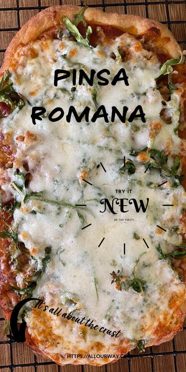 Pinsa Romana is all about the crust. The bottom is light and crispy making the pizza lighter in calories and texture. You can bake or grill the dough and the toppings are only limited to your imagination. There is even a no-gluten variation for this amazing pizza that will take the country by storm.