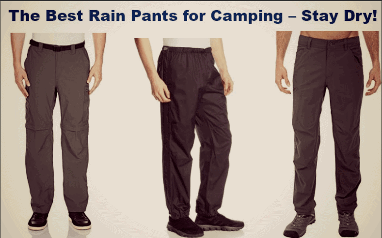the best rain pants for camping