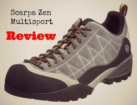 review of the scarpa zen multisport shoe