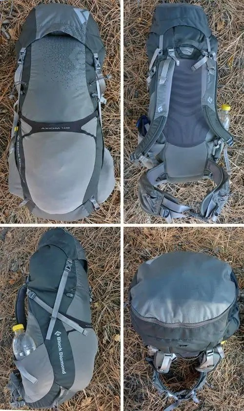 the black diamond axiom 40 backpack allows for excellent range of motion and hip pivoting