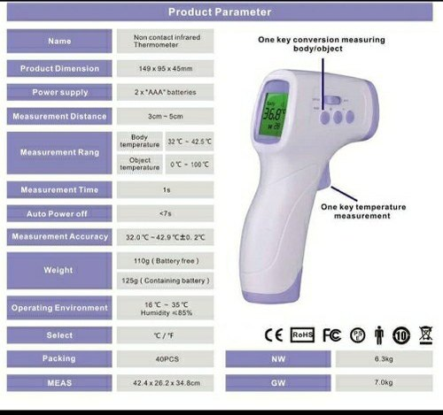 All Out Tech Contactless Infrared Thermometer