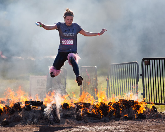 posted Sep 20, 2010. warrior dash jump over fire