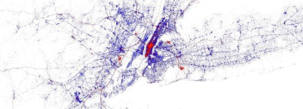 Image created by Eric Fischer of Mapbox for Gnip.