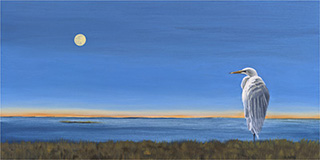 Early Moonrise by Liz Ashley Oil on Panel