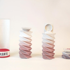 origami-inspired toothpaste tube