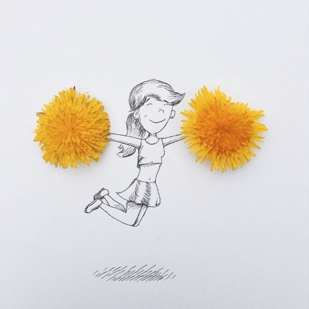 Cheerleader!  Image: @mr.kriss on Instagram