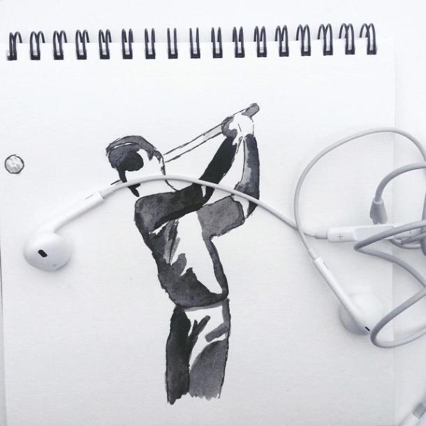 Headphones Golfer.  Image: @mr.kriss on Instagram