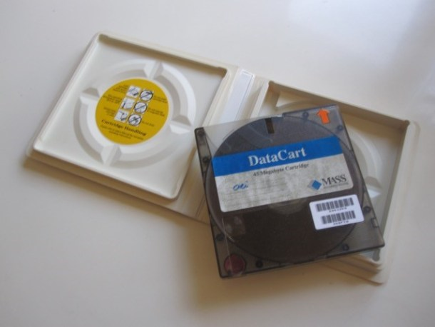 Data cartridge. Wow! A whole 45 Megabytes! Who could ever need all that storage?