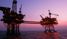 Topsides at sunrise