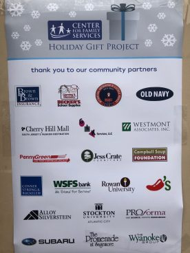 Center for Family Services Holiday Gift Project Supporters