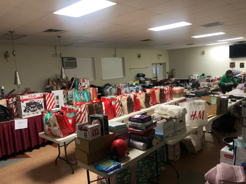 Center for Family Services Gift Collection Drive Organizing Donations