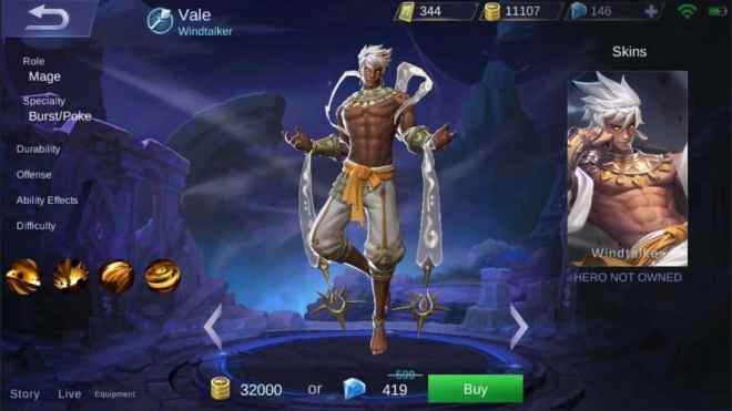 mobile legends - 1.3.44 patch notes   new hero vale