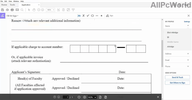 Adobe Acrobat Pro DC Editable Form