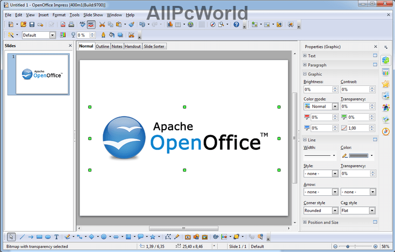 Apache OpenOffice 4.1.2 Slides