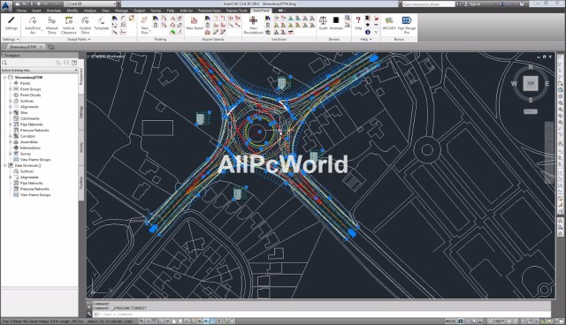 Autodesk AutoCAD Civil 3D 2017 User Interface