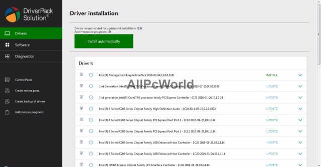 DriverPack Solution offline iso user interface