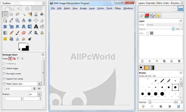 GIMP 2.8.18 GNU Image Manipulation User Interface