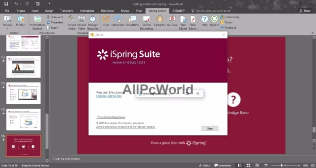 iSpring Suite 8 User Interface