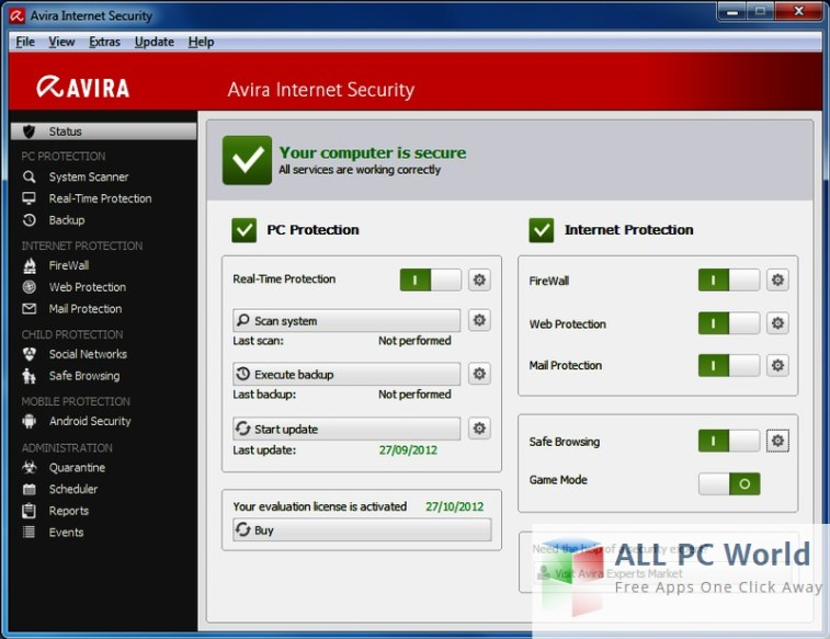 Avira Internet Security Suite 2016 Free Download