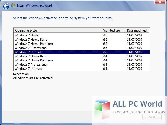 Windows 7 All in One ISO AIO Installer UI