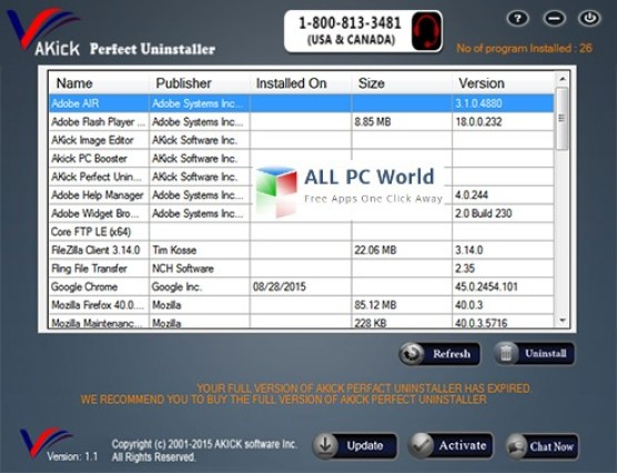 AKick Perfect Uninstaller Review