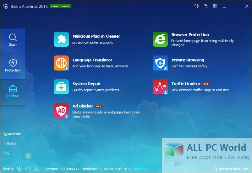 Download Baidu Antivirus User Interface