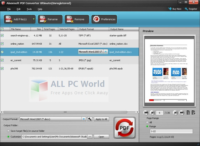 Aiseesoft PDF Converter Ultimate Review