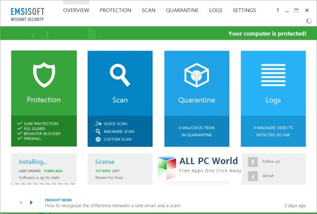 Emsisoft Internet Security 2016 Review