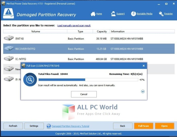 MiniTool power data recovery 7.0 professional edition review