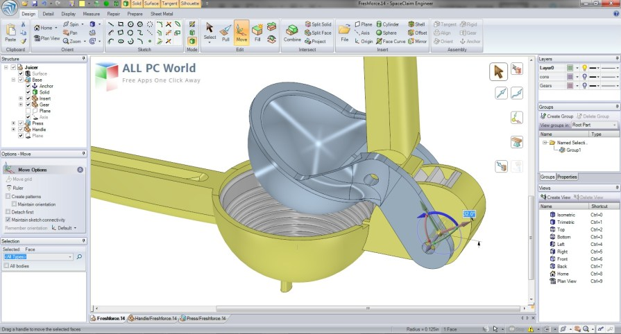 ANSYS SpaceClaim Direct Modeler 2014 User Interface