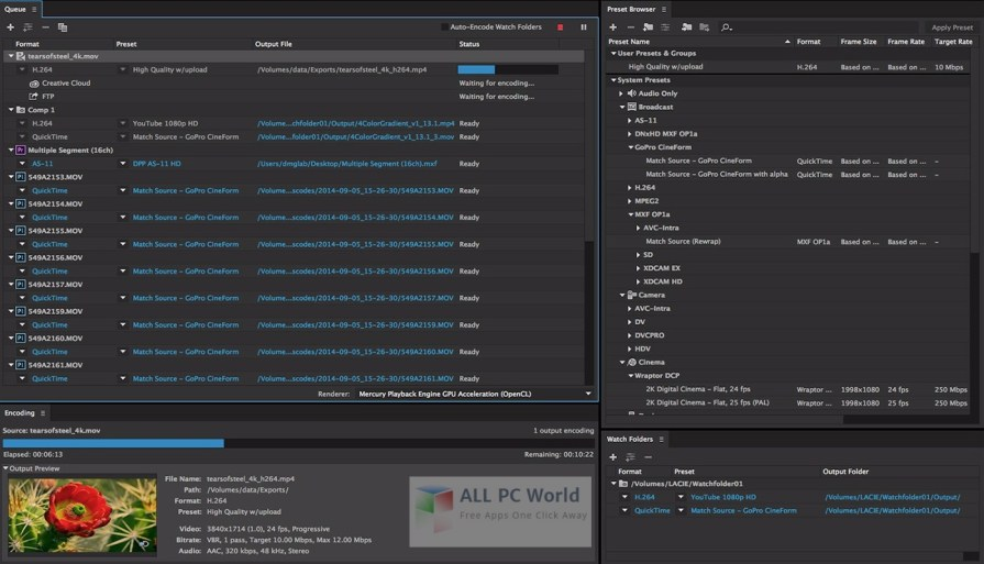 Adobe Media Encoder CC 2015 User Interface