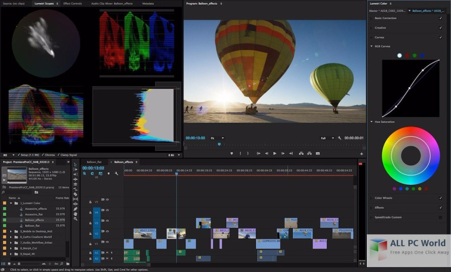 Adobe Premiere Pro CC 2017 User Interface