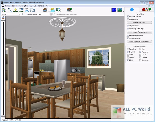 Avanquest Architect 3D Ultimate 2017 User Interface