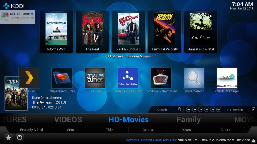 Kodi Ultimate Addon Pack 2.7.6 User Interface