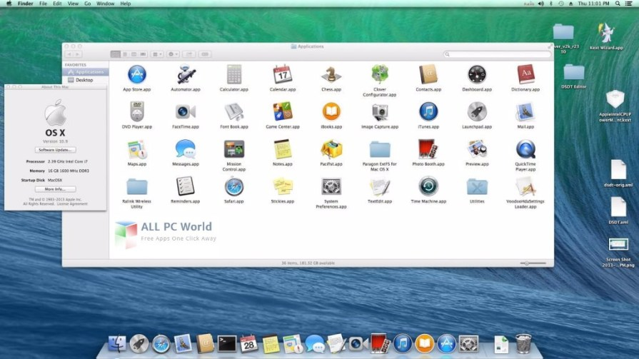 Niresh Mac OSX Yosemite 10.10.1 User Interface
