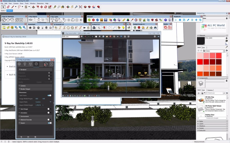 Download V-Ray 3.40 for SketchUp 2017 Free