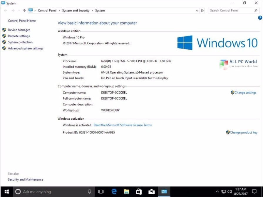 Download Windows 10 AIO Build 15063.540 x64 Aug 2017