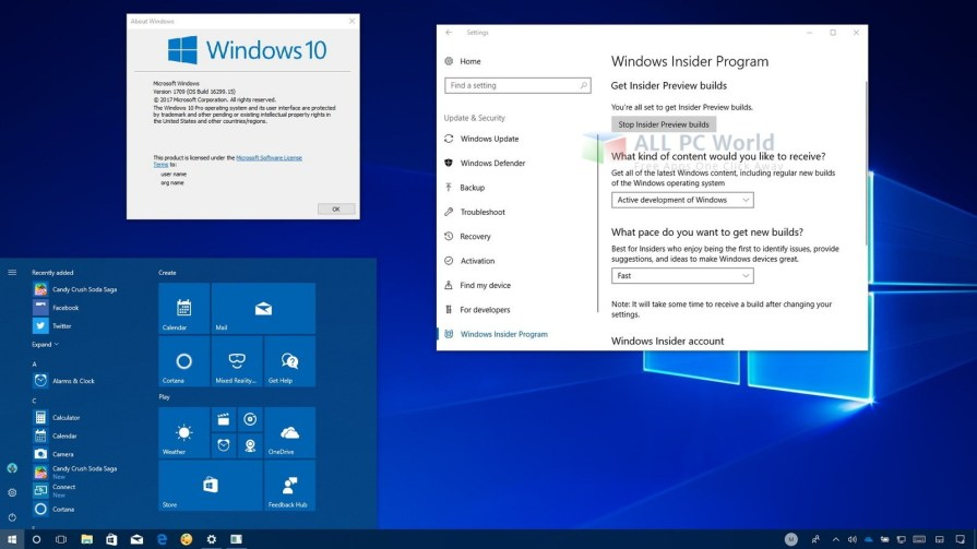 Windows 10 Pro v.1709 Offline Installer