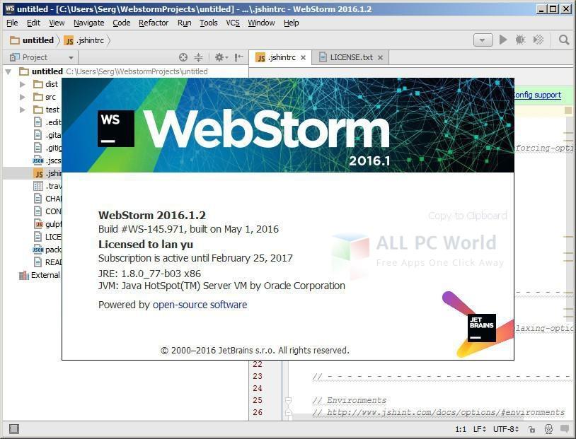 JetBrains WebStorm 2016.1.2 Final Review