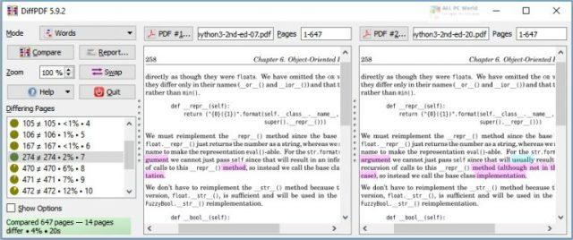 DiffPDF 2020 v5.9 Free Download