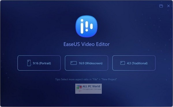 EaseUS Video Editor 1.6 Free Download