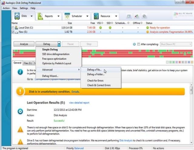 Auslogics Disk Defrag Pro 10 Free Download