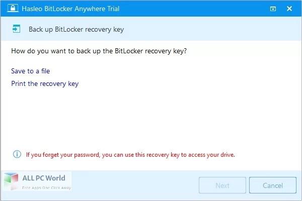 Hasleo BitLocker Anywhere 8 Free Download
