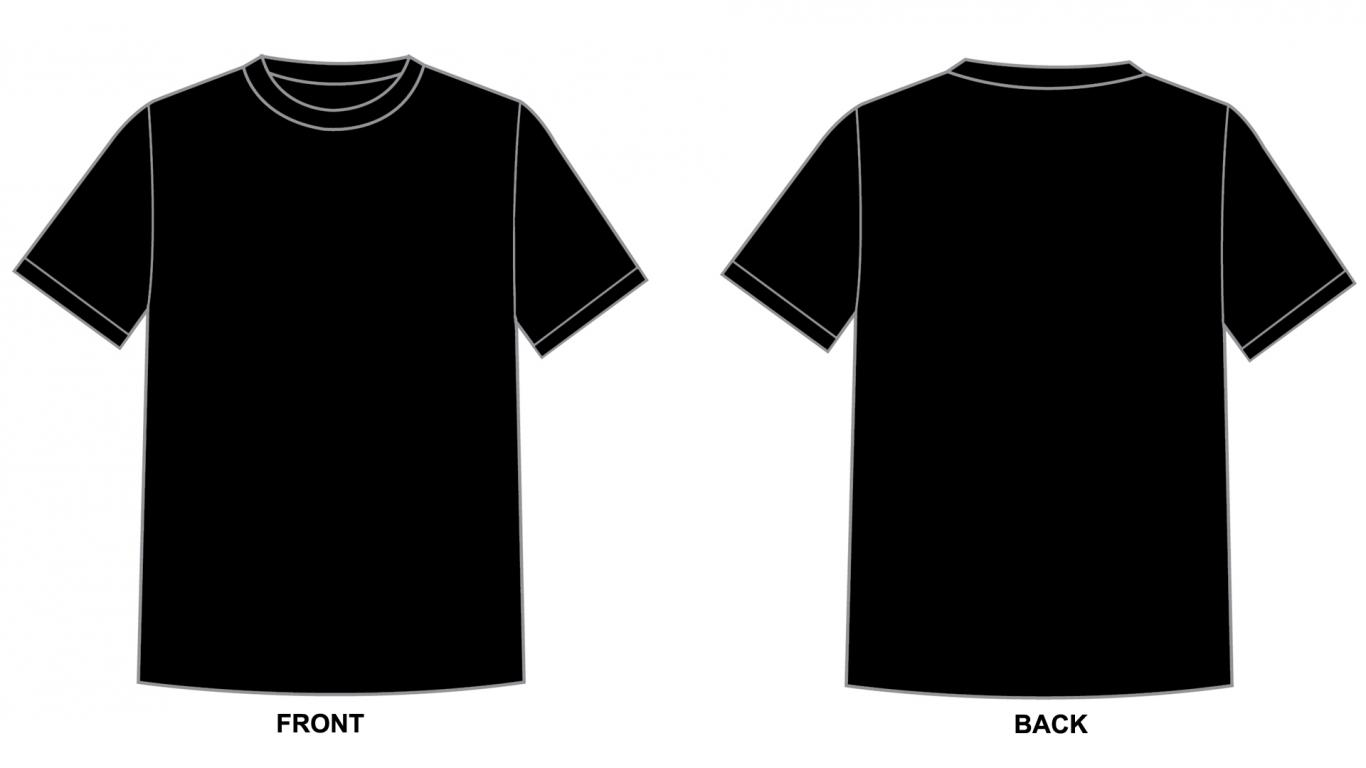 Blank Tshirt Template Black In P