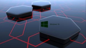 Windows 10 Desktop Image with 3d Art black hexagonal wallpapers