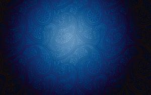 Artistic blue pattern background with Modern batik motive