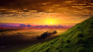 HD Nature Wallpaper with a picture of sunrise glory in 1920x1080