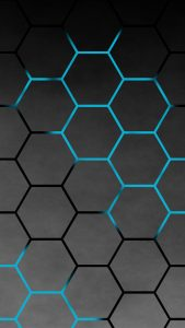 Black Hexagon iPhone Background for iPhone 7 and iPhone 6s